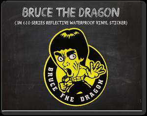 BRUCE LEE Sticker 3M Reflective Vinyl Car Decal Luggage Skateboard Guitar Laptop