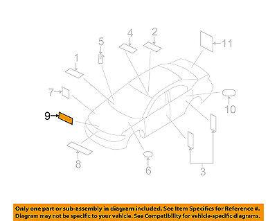 CHRYSLER OEM Labels-Emission Label 4578502AB