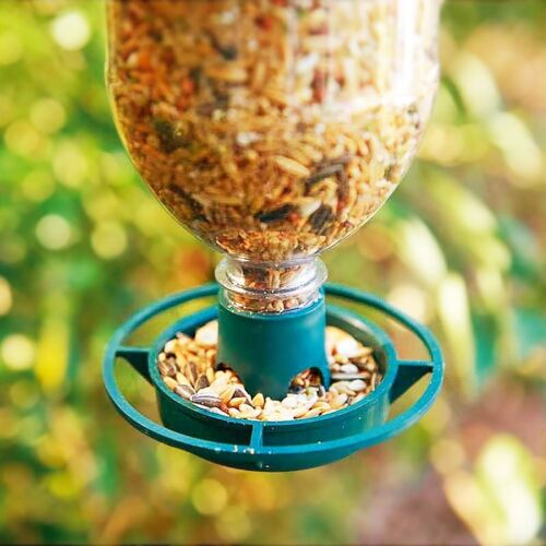 Hanging Bottle Top Bird Feeder Seed Kit Recycled Plastic Drink Bottle Feeder