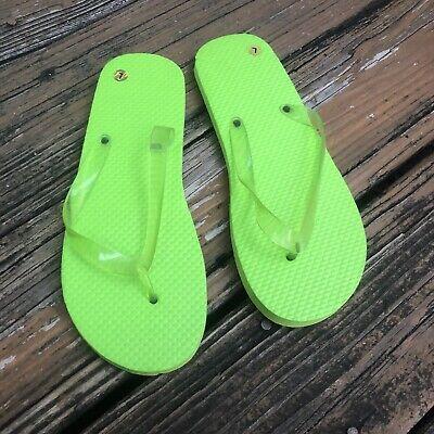 Lime Green Flip Flops 9 10 L Large Slip