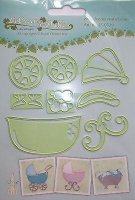 LeCrea' Multi Die Cutter, Pram + bath, craft, card making, ref 0539