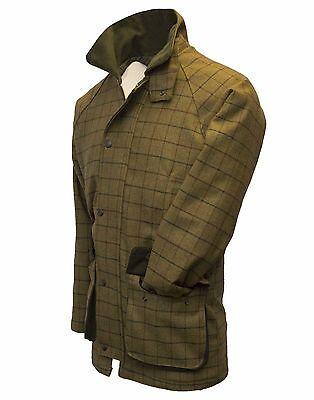 Walker /& HAWKES da Uomo Derby Tweed Tiro Caccia Giacca Cappotto Beige