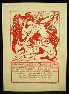 R-M-Castaing-Card-Input-Woman-Prom-Quat-039-Z-Arts-1922-Luna-Park-India-Antique