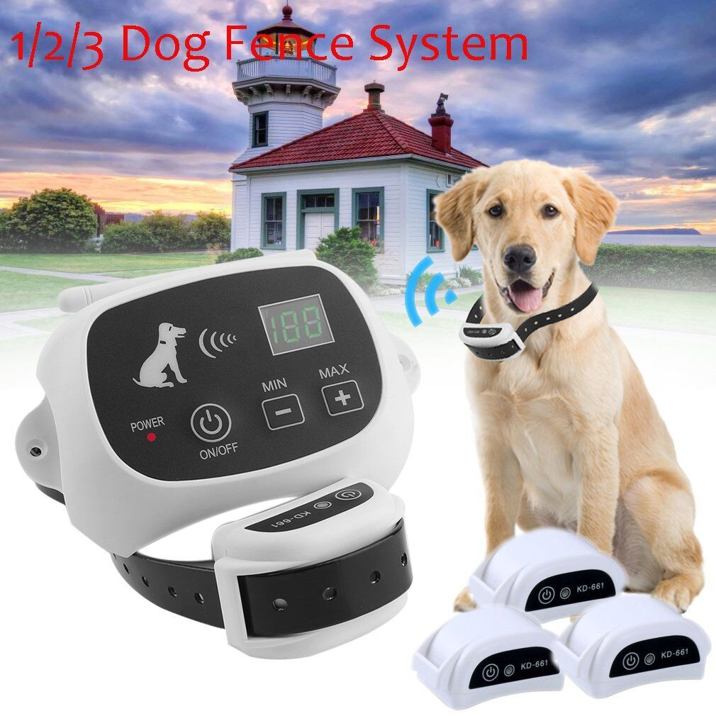 Wireless Pet Dog Electronic Fence Containment Training