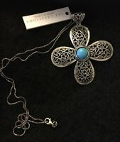 Paz Creations Sterling Silver Flower Pendant Necklace 23 925