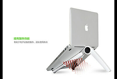 Portable Laptop/ipad/ipad Pro/all Tablets Stand With Adjustable Height- White To Have A Long Historical Standing