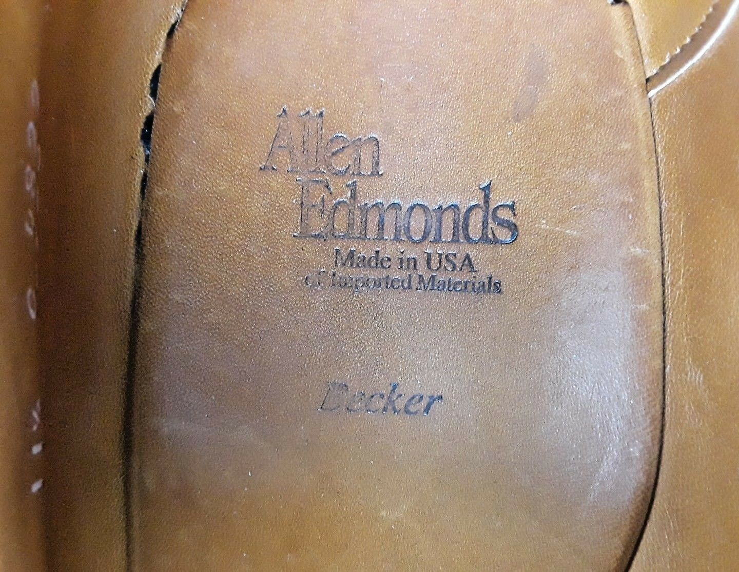 Allen Edmonds Becker Uomo 11.5 C Pelle Pebbled Brown Pelle C Cap Toe Oxford Dress Shoe 7c8eed