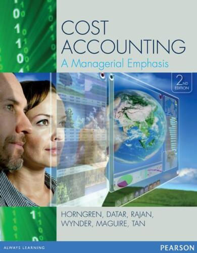 1 of 1 - NEW - FAST to AUS - Cost Accounting by Horngren (2nd Edition) - 9781442563377