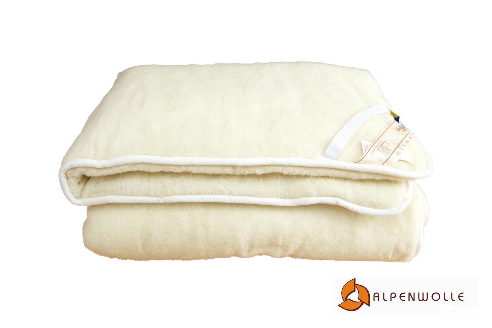 Unterbett doppelt, Schurwolle Bettauflage, Schonbezug 100% Wolle
