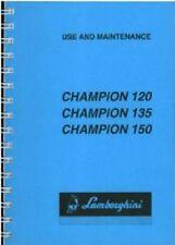 Lamborghini Tractor Champion 120 135 150 Operators Manual