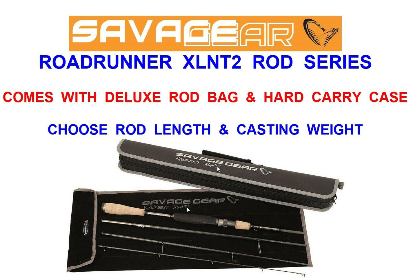 CLEARANCE SAVAGE GEAR XLNT2 ROAD RUNNER TRAVEL ROD SEA COARSE FISHING SPINNING