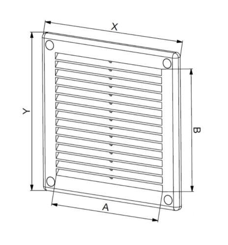 Aération Grille 300mm x 30.5cm x Blanc Ventilation Housse 30cm TRU9