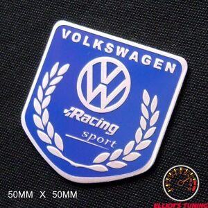 volkswagen racing sport badge emblem vw golf bu gti vr6. Black Bedroom Furniture Sets. Home Design Ideas