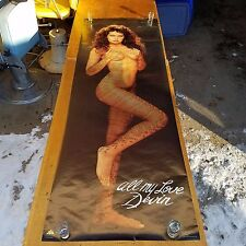 "Large  26"" x 75""  Door Poster pin up vintage 1988"