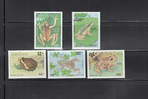 Laos-1993-Frogs-Sc-1113-1117-complete-mint-never-hinged