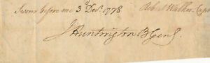 Jedediah-Huntington-Clipped-Signature-of-the-Continental-Army-General-1778