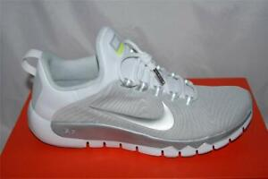 ec902871d8c5 NEW NIKE FREE TRAINER 5.0 NRG TRAINING RUNNING SHOE 9 WHITE SILVER ...