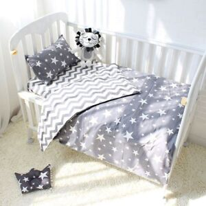 Image Is Loading 3pcs Cotton Crib Bed Linen For Baby Bedding