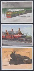 Nicaragua 1995 Trains Miniature Sheet Sc 2131-2133 Complete mint never hinged