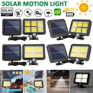 120-Energia-Solar-LED-Luz-Exterior-De-Jardin-Sensor-De-Movimiento-PIR-Seguridad-Lamparas-Inundacion