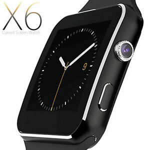 Smart-watch-iPhone-Android-IOS-with-SIM-Bluetooth-Smart-Watch-x6-Touch-Screen