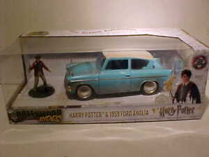 HARRY-POTTER-1959-Ford-Anglia-Diecast-Car-1-24-Jada-Toys-8-inch-with-Figure