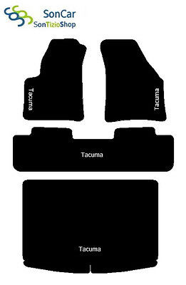 4decori 4block DAEWOO TACUMA TAPPETI AUTO tappetini posteriori uniti baule