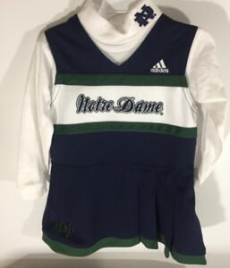 5869103f80e Notre Dame Adidas 2 Pc Cheer Outfit Cheerleader Dress Set - Toddler ...