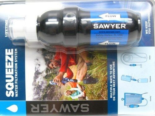 Sawyer SP131 Portable Pointone Squeeze Water Filtration System + 3 Pouches