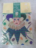 Toland Mardi Gras Small Garden Flag 11x14 Court Jester Orleans Coins Beads