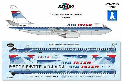 Dassault Mercure Air Inter decal 1\100 for VEB Plasticart
