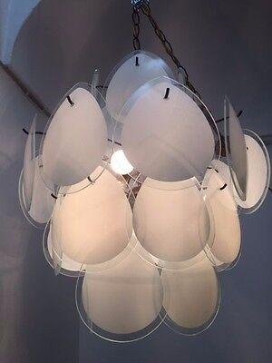 Chandelier Gino Vistosi design 60 70 lamp Murano Mazzega