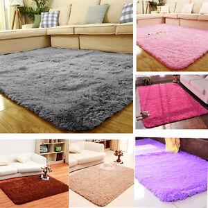 fluffy mat home blanket area rug anti skid kitchen floor bedroom furry mat ebay. Black Bedroom Furniture Sets. Home Design Ideas