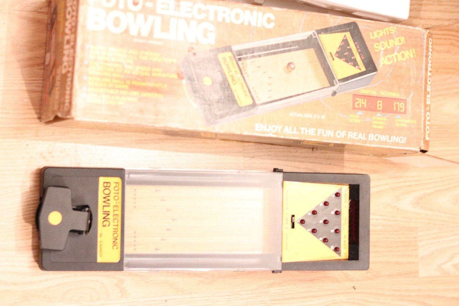 Vintage Rare Foto-ELECTRONIC BOWLING jeu par Cadaco 1978