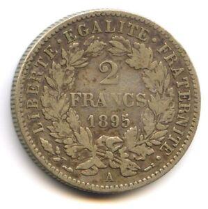 III No Republic (1871-1940) 2 Francs Cérès 1895 Paris