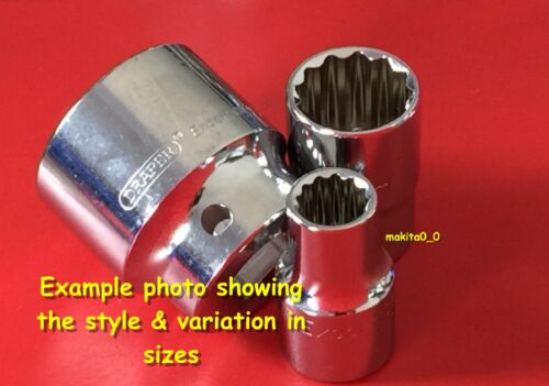 11-32 mm 12 Point Bi-Hex Draper Expert 1//2/' Drive Metric Sockets