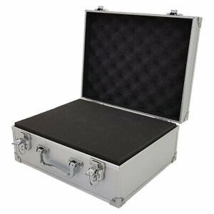 Small-Hard-Aluminium-Flight-Case-Tool-Storage-Box-Camera-Photography-DJ-Foam