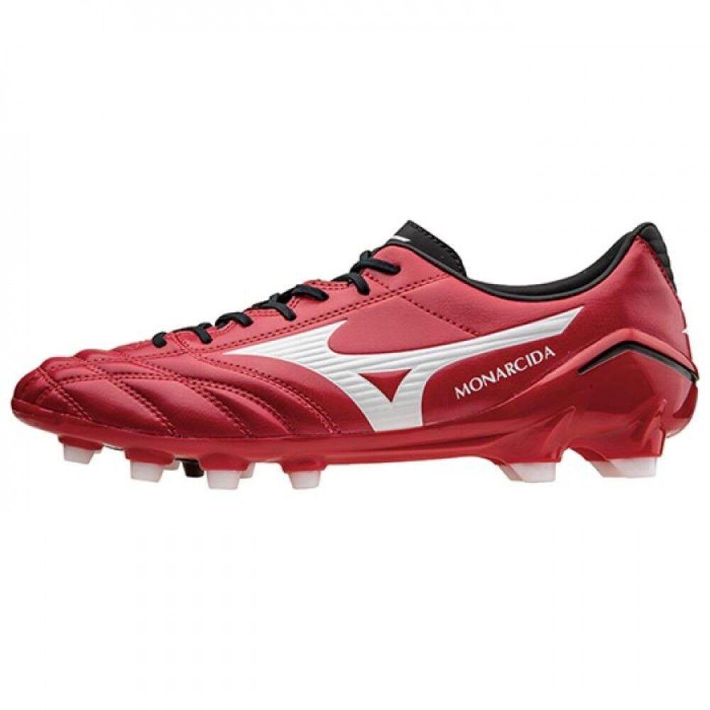 Zapatos de fútbol de Mizuno Spike monarcida SL P1GA1521 blancoo X roja