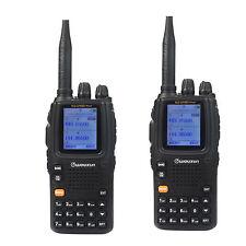 New 2pcs Portable Wouxun Dual Band UHF/VHF KG-UV9D(Plus) FM 2Way Radio Receiver