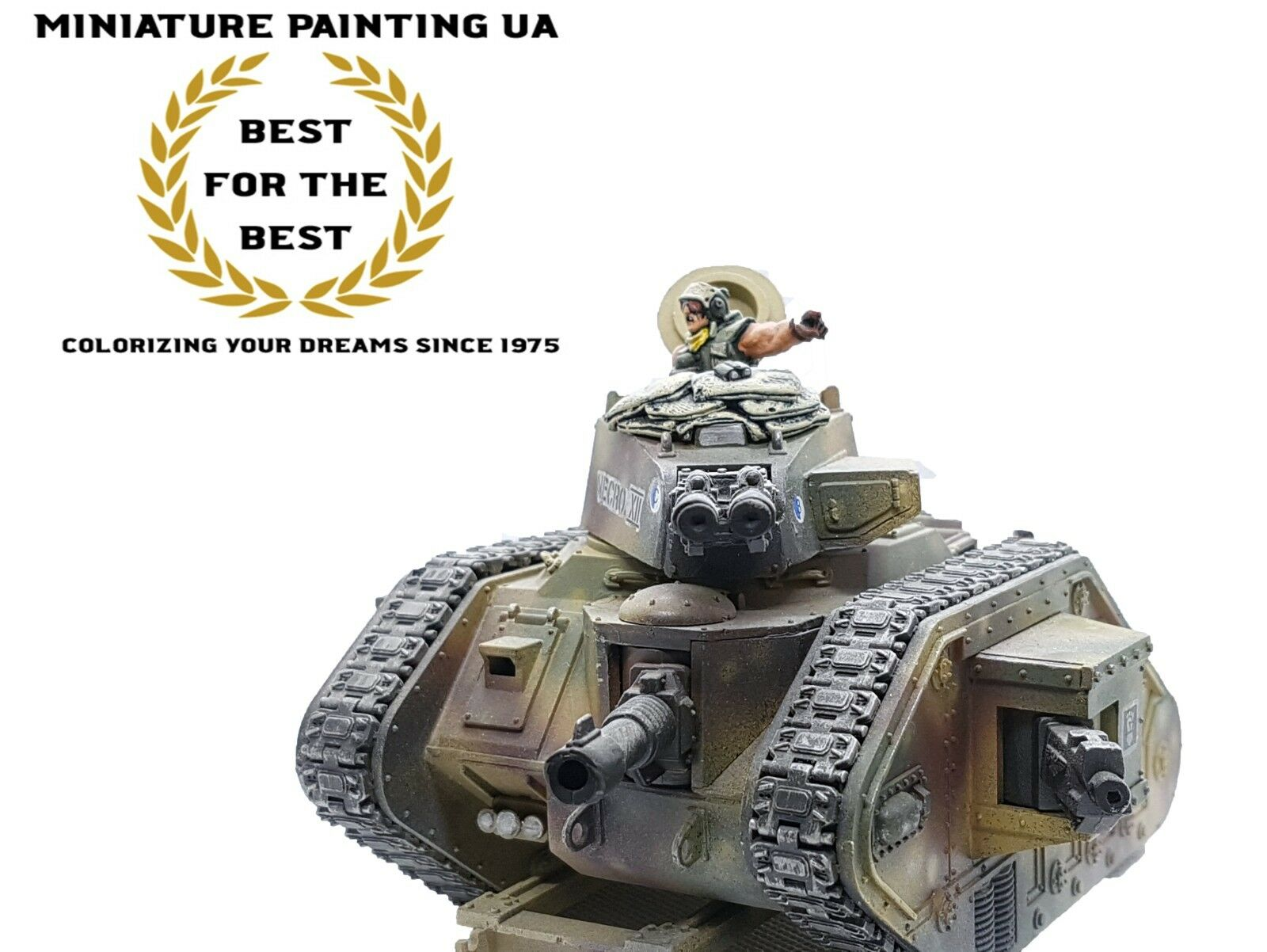 █ WH40K Astra Militarium Leman Russ Conversion, Tank Commander Painted Assembled