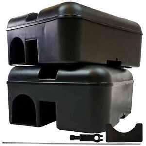 Roshield Empty Rodent Rat Mouse Poison Bait Trap Box - Safe for Pets & Children