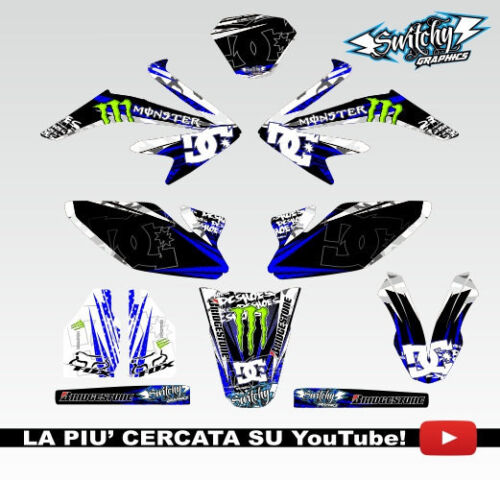 KIT ADESIVI GRAFICHE ROCK CAMO BLUE HM DERAPAGE 50 COMPETITION  2011-2015