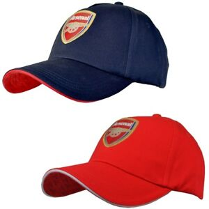 c5c6153d48e Arsenal Football Club Baseball Cap Hat Features Club Crest - Red Or ...