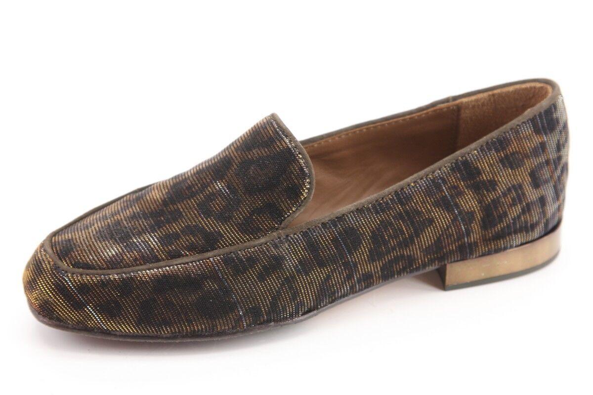 NEU Donald J Pliner Elana Leopard Bronze Loafers Größe 5.5 Flats Damenschuhe Schuhes