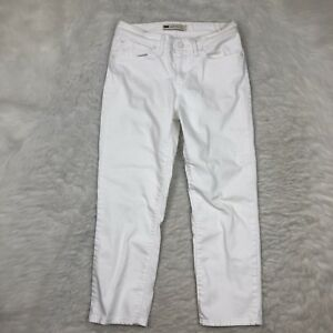 Womens-Levis-Mid-Rise-Skinny-Crop-Jeans-Size-6-28-White-Denim-Stretch