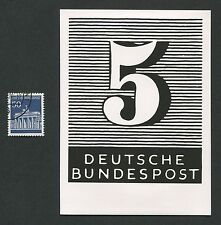 BUND FOTO-ESSAY UNVERAUSGABTE DAUERSERIE ZIFFERN 1966 PHOTO-ESSAY PROOF e318