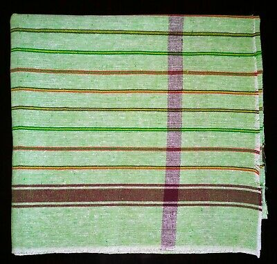 Large Red Striped Cotton Lightweight Indian Bath Beach Travel Towel Gamcha Wrap
