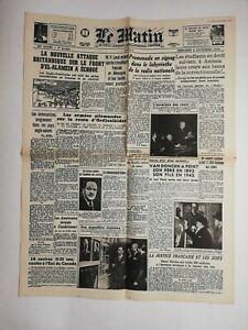 N764-La-Une-Du-Journal-Le-Matin-4-novembre-1942-nouvelle-attaque-britannique