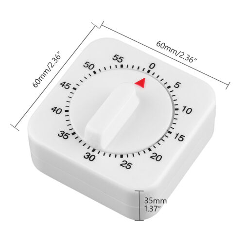 1 Hour 60 Mins Mechanical Kitchen Cooking Timer Game Alarm Count Down Timer D08