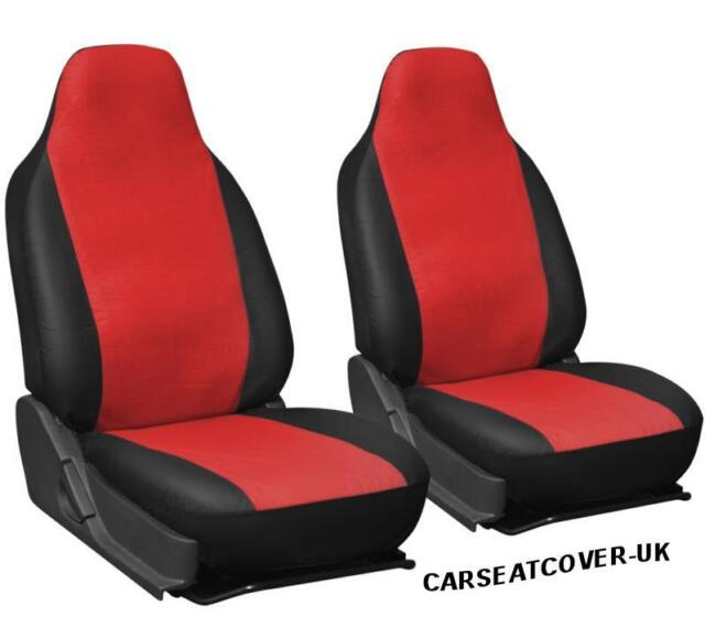 Luxury RED /& BLACK Leatherette Car Seat Covers 2 x Fronts Nissan NV200